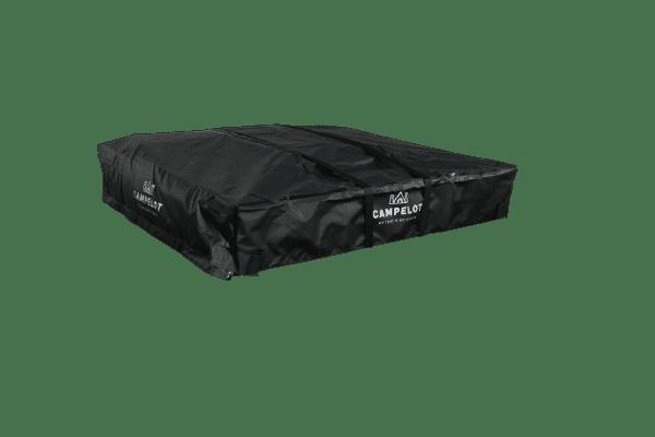 Dachzelt Merlin140 verpackt in Schutzcover und Sicherungsgurten