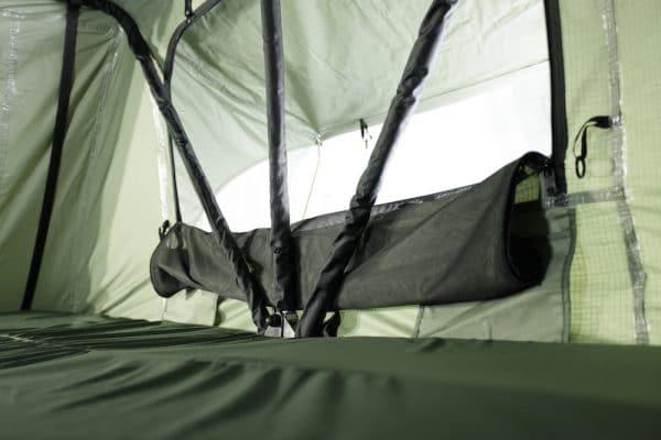 Seitenfenster mit Fliegengitter, Reißverschlüsse und Taschen