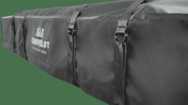 Seitenansicht und Verschluss von Klappdachzelt MErlin220